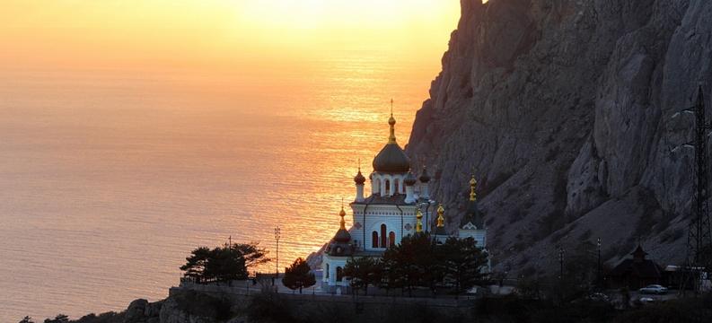 Форосская церковь фото на закате