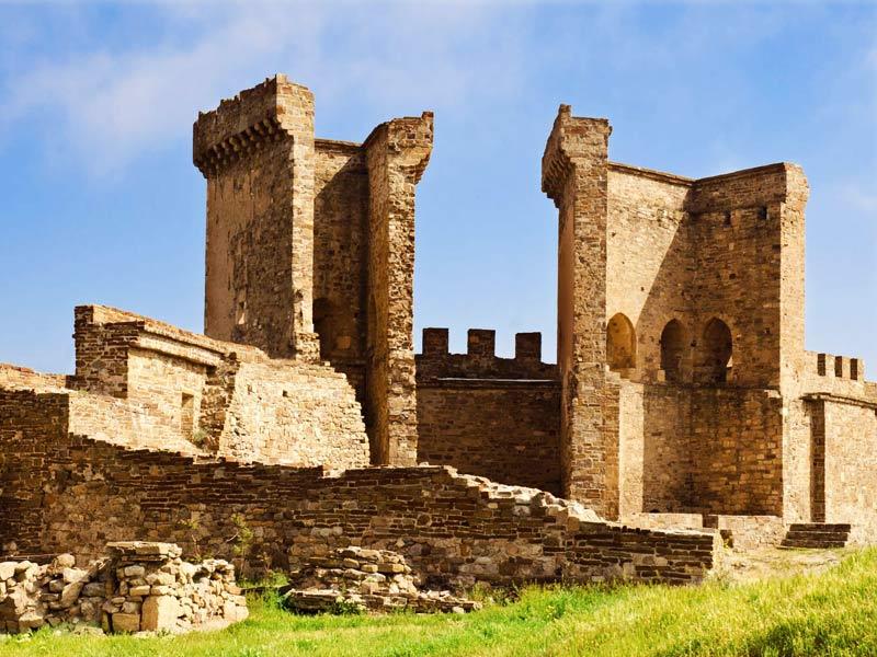 история крепости в судаке видео